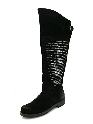 Marc Shoes Damenstiefel Lederstiefel Stiefel Leder schwarz Wildleder Black