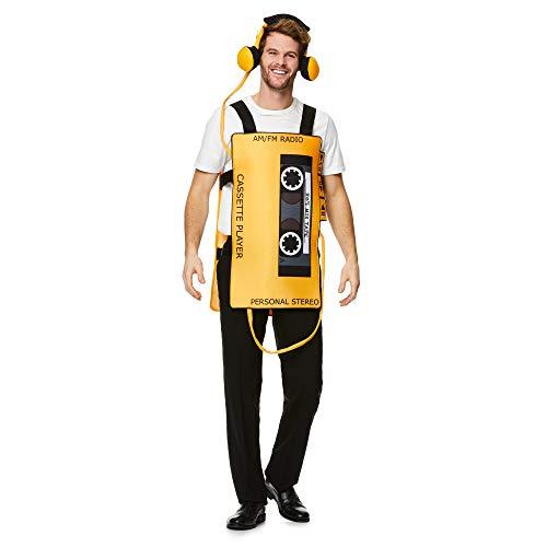 Für Kassetten Erwachsene Kostüm - Unisex-Erwachsene Kassetten-Kostüm