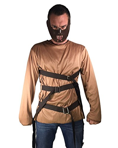 r Jailbird Silence of the Lambs Fancy Dress Halloween Costume by Rubber Johnnies TM (Halloween-kostüm Jailbird)