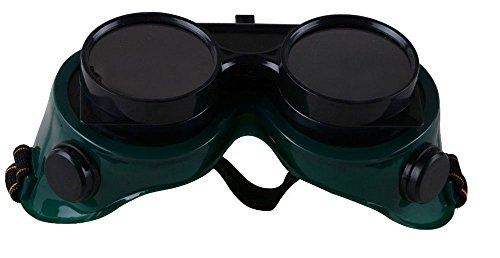 Vetrineinrete Occhiali di protezione per saldature con doppie lenti maschera protettiva di sicurezza per saldatura oscurante per saldare 90590 G34