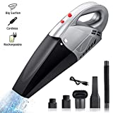 sumgott Handheld Vacuums Cordless Cleaner 6500Pa Rechargeable Powerful Suction Hand Car Vac, Light