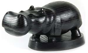 """Sculpture abstraite exclusif en bois, fait à la main """"Hippopotame"""" 5.12"""" / 13cm"""