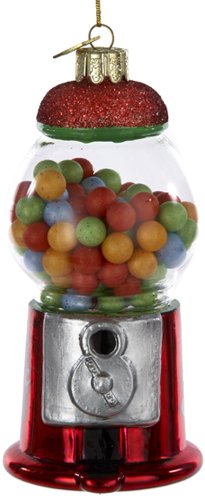 Noble Kurt Adler 4-1/2Zoll Gems Glas Gumball Maschine Ornament - Maschinen Gumball