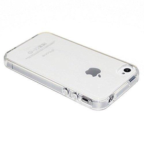ELECTRÓNICA REY Funda Carcasa Gel Transparente para iPhone 4 4S Ultra Fina 0,33mm, Silicona TPU de...