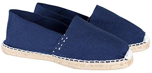 Sommerlatschen Espadrilles, Handmade, Dunkelblau, Unisex, SL1255 Blau (Dunkelblau)