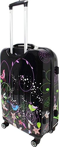 Hartschalen ABS Kofferset 2 tlg Reisekofferset mit Motiv Night Flowers