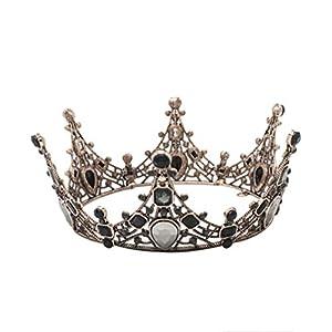 Lurrose corona barroca cristal negro