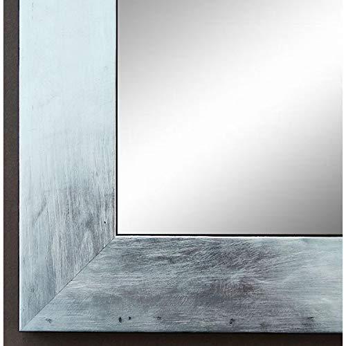 Online Galerie Bingold Spiegel Wandspiegel Badspiegel - Lecce Silber 3,9 - handgefertigt - 200 Größen zur Auswahl - Modern, Vintage, Shabby - 70 x 140 cm AM