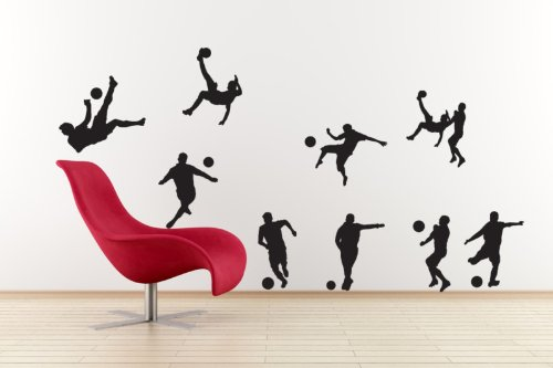 Vinyl Concept Football Players Set Footy Set Of Wall Stickers - Custom vinyl wall decals uk how to remove