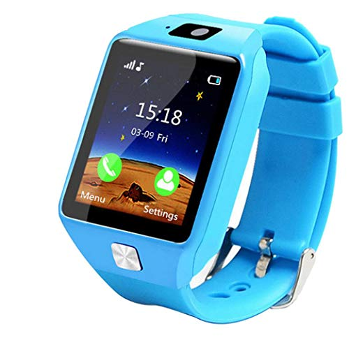 Watch Kinder Smart Watch GPS Tracker IP67 Wasserdichte Fitness Uhr SOS Mit Kamera Wrist Watch Sport Male and Female Students Adults Waterproof Smartphone Multifunction (Blau) ()