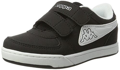 Kappa trooper light ice, scarpe da ginnastica basse unisex-bambini, nero (black/white 1110), 29 eu