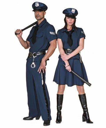 Damen-Kostüm Cop/Polizistin, blau, Gr. 44