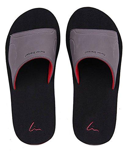 Slip On pantofole antiscivolo doccia sandali House Mule Think schiume sole piscina da spiaggia o da bagno scorrevole per adulti Black