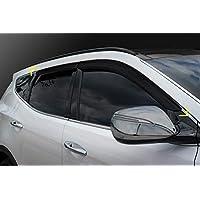 Autoclover Hyundai Santa Fe 2013-2018 - Juego de deflectores de Viento (4 Piezas