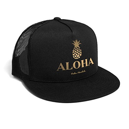 DEPARTED Herren Mesh Trucker Hat mit Print / Aufdruck - Snapback Cap - No. 34, black