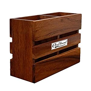 Craftland Wooden Cutlery Holder/Pen Holder for Kitchen Dining Table Multipurpose Stand