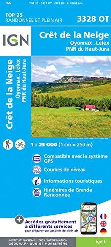 3328OT CRET DE LA NEIGE / OYONNAX LELEX PNR DU HAUT JURA par  COLLECTIF