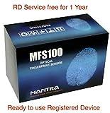 #7: Mantra MFS 100 USB Biometric Sensor Fingerprint Scanner Registered Device