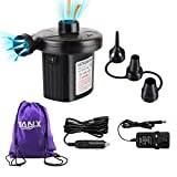 YANX Electric Air Pump Two-way Air Pump with 3 Nozzles, 220V AC/12V DC