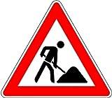 LEMAX® Schild Alu Baustelle Verkehrszeichen 123 630mm