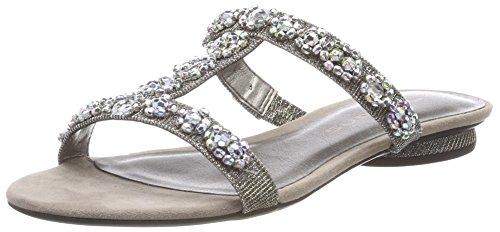 Tamaris Damen 27192 T-Spangen Sandalen, Silber (Platinum Glam), 37 EU
