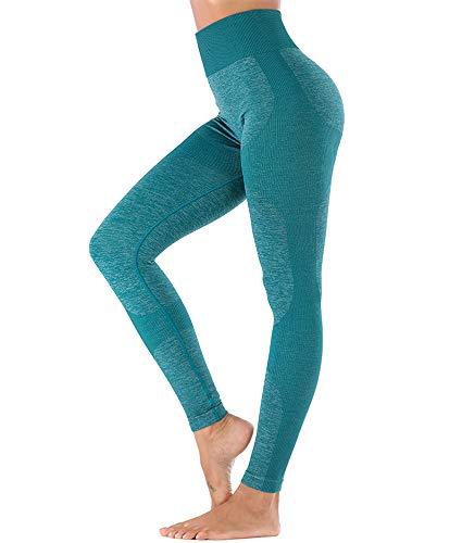 DODOING Hohe Taille Legging Damen Sport Leggings Lange Blickdicht Kompressions Fitnesshose Laufhose Sporthose Yoga Hose