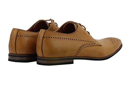 Mens nuovo nero marrone in pelle Smart Casual Formal con lacci Derby, Scarpe taglia 6 7 8 9 10 11 Tan
