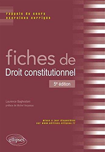 Fiches de Droit Constitutionnel