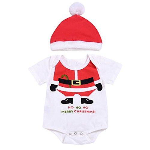 Pagliaccetto e cappello di Babbo Natale per neonati e bambini