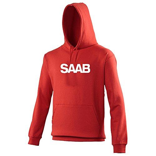 saab-custom-printed-hoodie-medium-40-42-fire-red