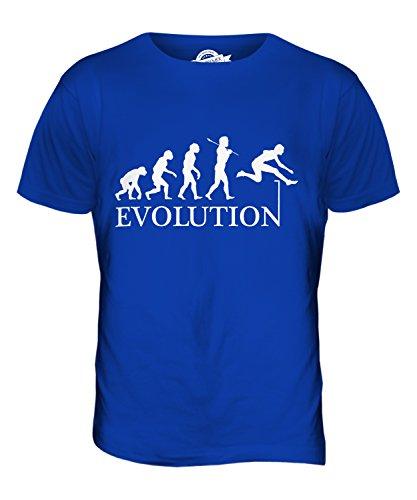 CandyMix Hürdenlauf Evolution Des Menschen Herren T Shirt Königsblau