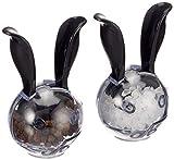 Chef'n Pfeffer- und Salzmühlen-Set MiniMagnetic, Gewürzmühlen-Set, Salz- und Pfefferstreuer, Keramik-Präzisionsmahlwerk, Kunststoff-Mühlen (Farbe: Schwarz/Transparent), Menge: 1 Stück