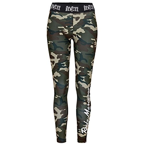 BENLEE Rocky Marciano Damen Patty Lynn Leggings, Camo Woodland, XL - Frauen Boxing Shorts
