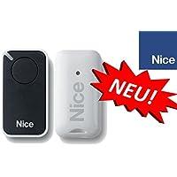 Nice inti1Black de 1canal handsender, 433.92MHz Rolling Code. compatible con flor de S, One, Flore, INTI fernbedienungen.