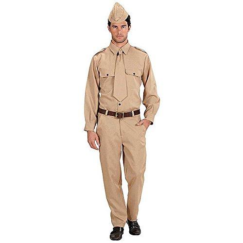 Widmann 76612 - Amerikanischer Soldat - Kostüm für Herren, Größe (Deutsche Kostüm Ww2 Uniform)