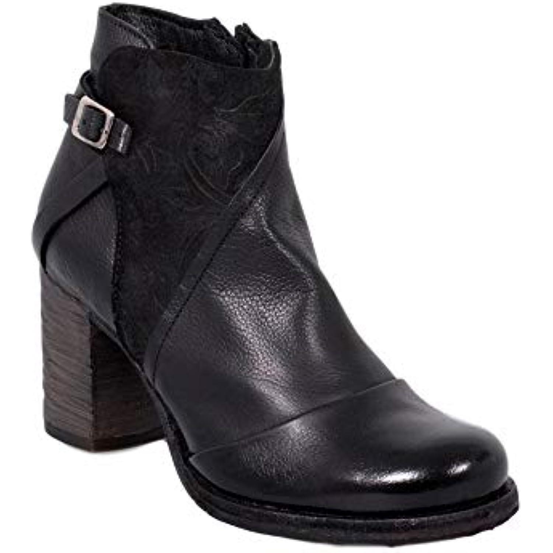 Felmini - Chaussures Femme - Tomber en Amour Amour en avec Gianina B374 - Bottines - Cuir Véritable - Noir - B07G4KN27J - 41495d
