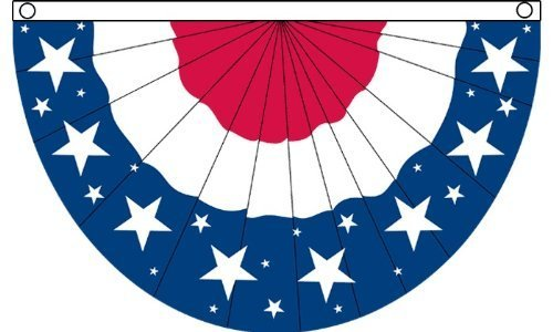 USA Stars Bunting Flag 5X 3FT Poly by Flags importieren - Usa Bunting
