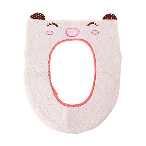 Kalttoy wc, copertura, morbido, lavabile cute warmer closestool cuscino rosa