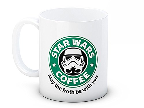 Wars Star Kaffee (Star Wars - Storm Trooper - May The Froth Be With You - Hochwertige Kaffeetasse)