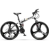 Novokart-Sports Pliables/vélo de Montagne 24/26 Pouces 3 Roue de Coupe, Blanc