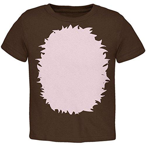 Halloween Stachelschwein Igel Kostüm Kleinkind T Shirt braun 4 t (Igel Kostüm Kleinkind)