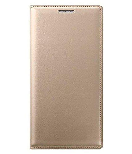Lenovo Phab 2 Plus Leather Premium WALLET Leather Flip Cover for Lenovo Phab 2 Plus GOLD