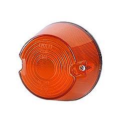 1x arancione luce di indicatore laterale 12V 24V e-contrassegnato auto camion rimorchio luce di posizione illuminazione Outline rotondo ovale cerchio ambra universale lampadina