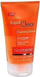 Neutrogena Rapid Clear Foaming Scrub 4.20 oz (Pack of 4)