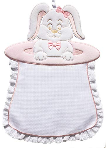 Coccarda Geburt Rosa und Weiß Häschen aus dem Hut, für Kinder