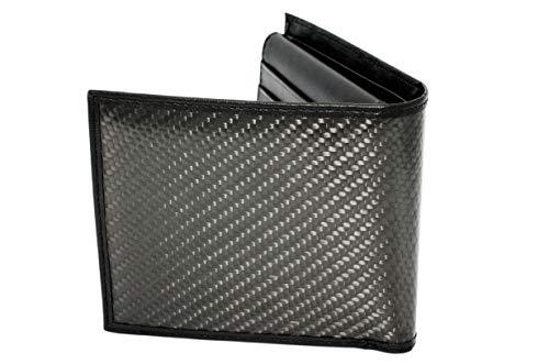 Exclusive Warehouse Carbon Portemonnaie | Geldbörse aus Carbonfaser und Leder | Schwarz Carbon | Geschenk