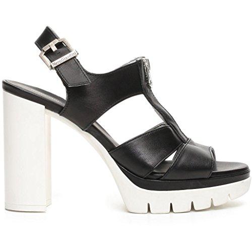 Nero Giardini donna sandali neri o beige (champagne) P717761D scarpe in pelle estate 2017 Nero