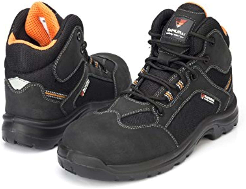 Samurai 1034301007 par de zapatillas altas verano S3 SRC, negro/naranja, 45