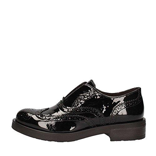 CAFè NOIR EB311 nero scarpe donna inglesina puntale inglese vernice slip on 39