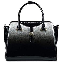 AO ALI VICTORY Borsa da donna brevetto Leahter borse per le donne stellato Shouler bag borsa a secchiello per ragazze